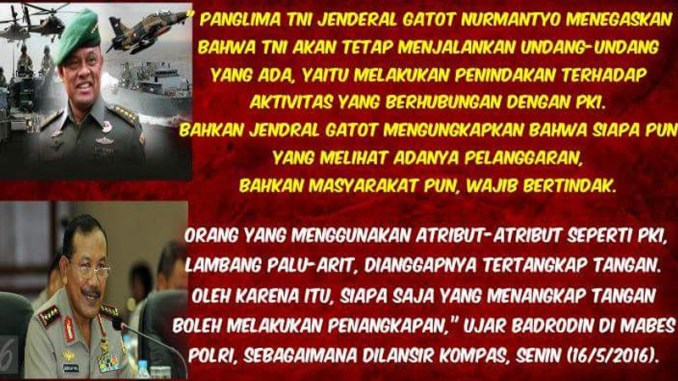 TNI Polri tetap sweeping PKI !!