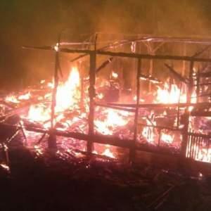 Rumah Terbakar di Ciparaga Tasikmalaya