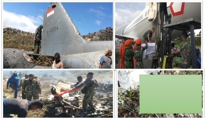 Tragedi Jatuhnya Pesawat Hercules Milik TNI AU Di Wamena