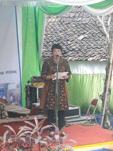 Peresmian sumur bor air tanah bantuan Badan Geologi di Desa Ngleri Kabupaten Gunung Kidul