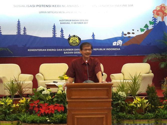 Kepala Badan Geologi pada acara Kesiapsiagaan dalam menghadapi bencana gerakan tanah
