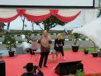 Direktur Fasilitasi Infrastruktur Fisik Bekraf, Selliane Halia Ishak memberi sambutan