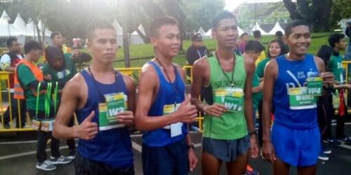 Para juara kategori TNI Polri Putra di Fituno 10K Run Challenge Bandung