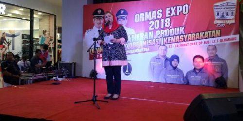 Plh Walikota Semarang saat menyampaikan sambutannya di acara pembukaan Ormas Expo