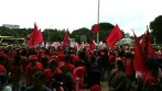 Unjuk rasa buruh di Istana Merdeka
