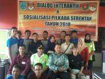 KPU Kota Banjar kerja bareng DPD Serikat Hijau Indonesia (SHI) dan LSM Warmasindo Kota Banjar menggelar Dialog Interaktif dan Sosialisasi Pilkada serentak 2018
