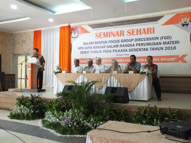 Jelang Debat Publik, KPU Kota Banjar Gelar Focus Group Discussion