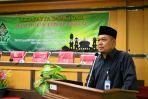 Prof Dr H Muhibbin saat memberikan sambutan dalam Lokakarya Imsakiyah