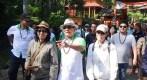 Kepala Staf Kepresidenan RI Jenderal TNI (Purn) Moeldoko menyampaikan pernyataannya tentang Sungai Citarum saat berkunjung ke Gunung Puntang, Kecamatan Cimaung, Kabupaten Bandung.