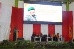 Pangdam III Siliwangi Mayjen TNI Besar Harto Karyawan, SH, M.Tr (Han), di acara apel siaga pengawasan Pemilu se Jawa Barat dan Diskusi Panel Rakor kesiapan Pilkada Jawa Barat di Arcamanik Sport Center Kota Bandung, Sabtu (23/6/2018).