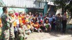 Jajaran Sektor 21 Satgas Citarum dari Subsektor 21-13 bersama dengan elemen masyarakat dan pemerintah setempat serta Polsek sebelum melaksanakan penutupan lubang pembuangan limbah PT Asatex
