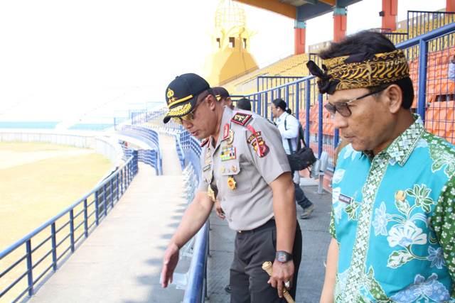 Kapolda Jabar Laksanakan Pengecekan Lokasi Stadion Si Jalak Harupat Kabupaten Bandung menjelang Asian Games XVIII Tahun 2018
