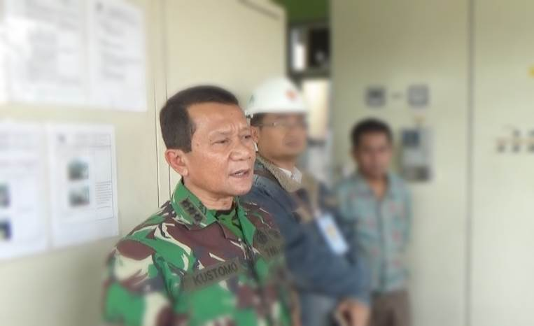 Dansektor 4 Satgas Citarum Kolonel Inf Kustomo Tiyoso di kontrol IPAL PT PMTI