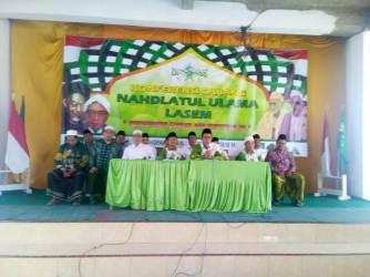 KH Roghib Mabrur dan KH Shalahuddin Fatawi Kembali Pimpin PCNU Lasem