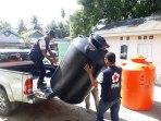 PMI Distribusikan 253 Tandon Air Di Palu, Sigi Dan Donggala