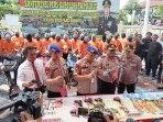 Kapolda Jabar Ekspos 24 Pelaku Curanmor Berikut Ratusan Unit Sepeda Motor Hasil Kejahatan