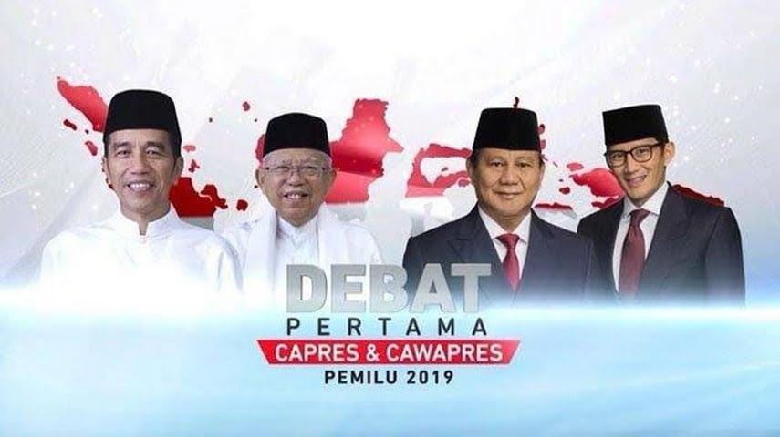 Debat capres perdana pilpres 2019