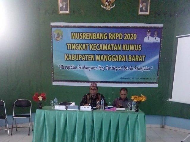 Musrenbang RPKD 2020 Tingkat Kecamatan Kuwus