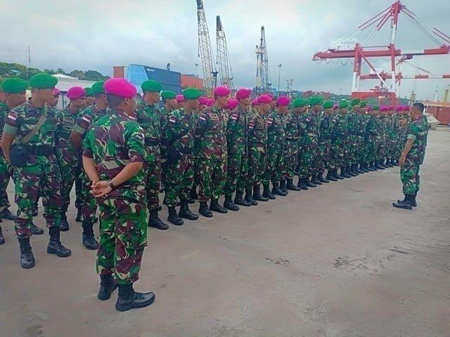 Upacara penerimaan Satgas PAM Pulau Terluar NTT