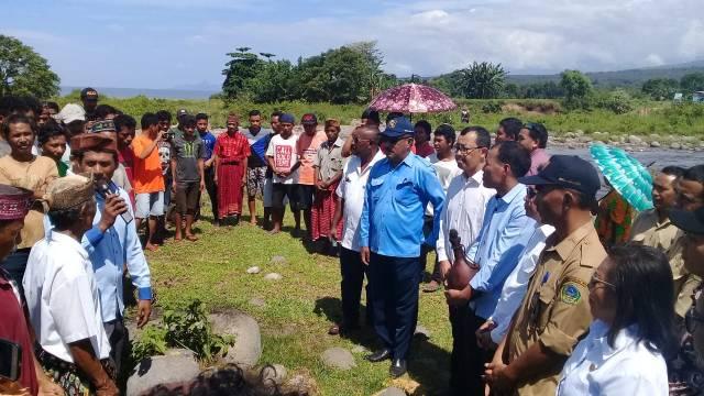 rombongan Kementrian PUPR di Wae Musur Matim