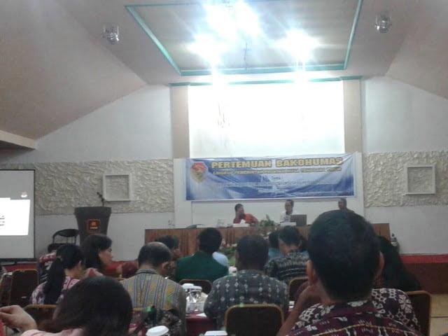 Pertemuan Bakohumas bersama KPU NTT