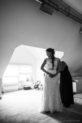 Bride getting ready at home by Sorrells Photography