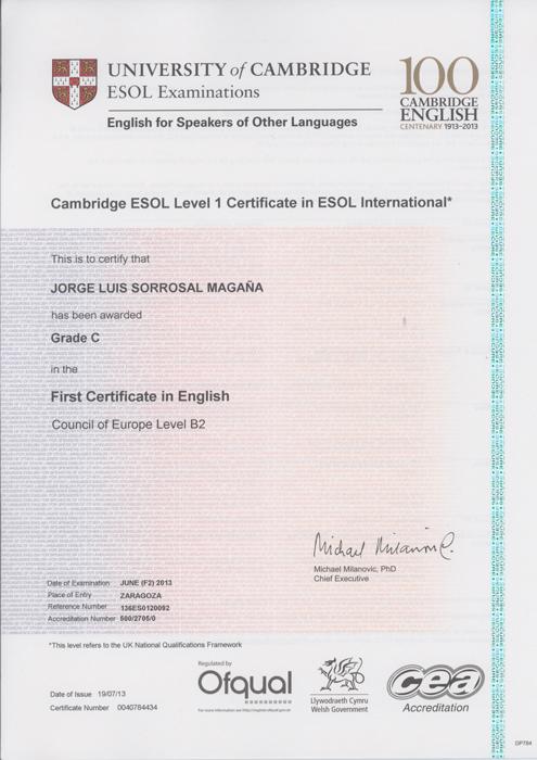 Diplomas  Jorge Sorrosal