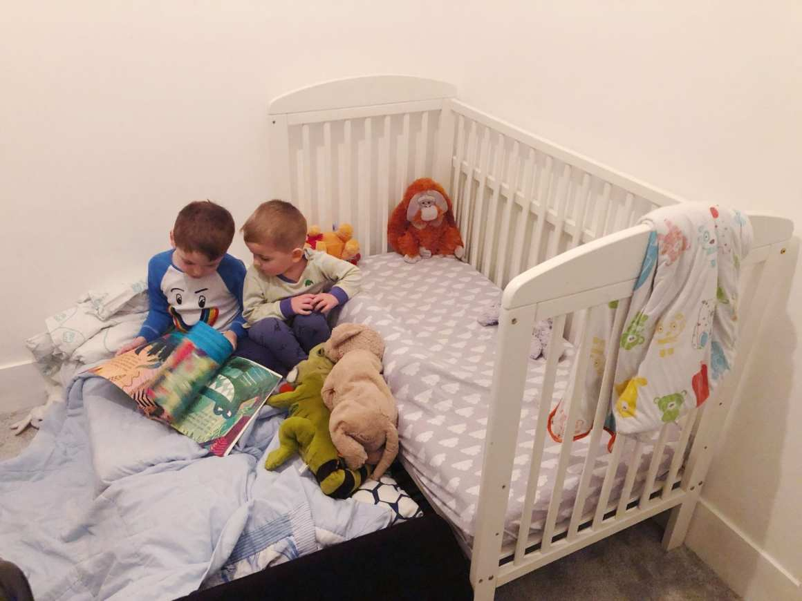 When to take sides off cot bed