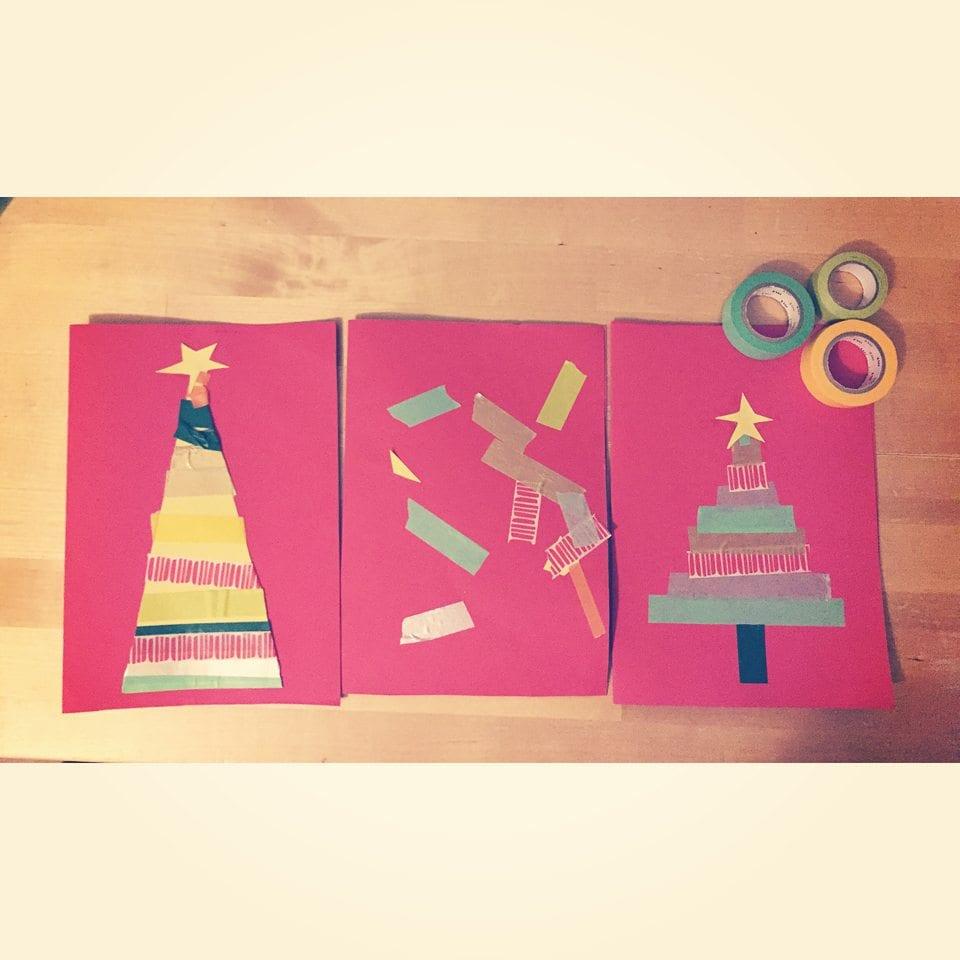 washi tape christmas cards