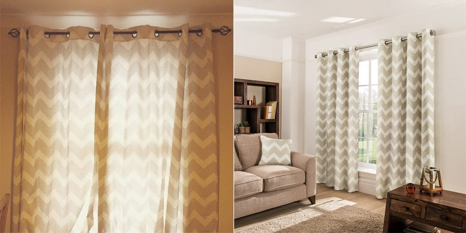 asda george home chevron curtain