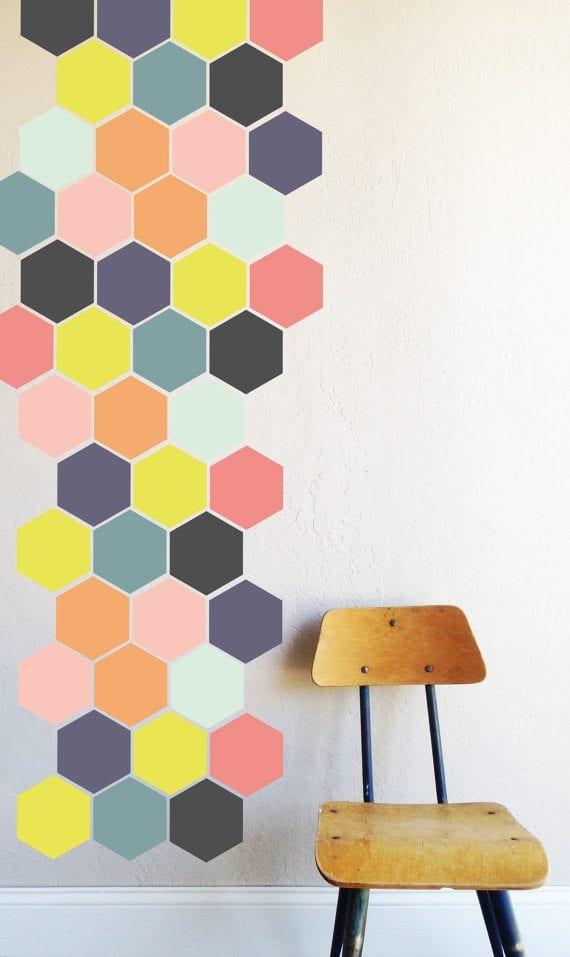 hexagon honeycomb wall decal