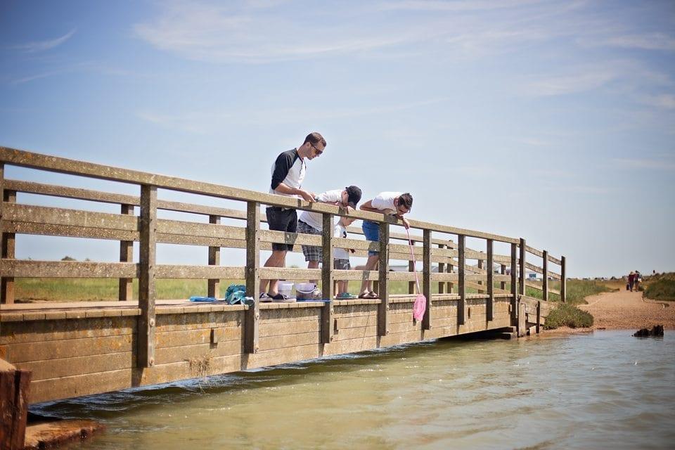 Walberswick crabbing bridge