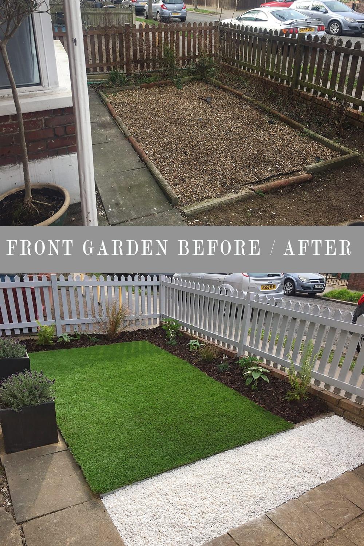 modern front garden