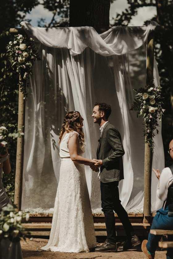 woodland wedding venue. hawthbush farm
