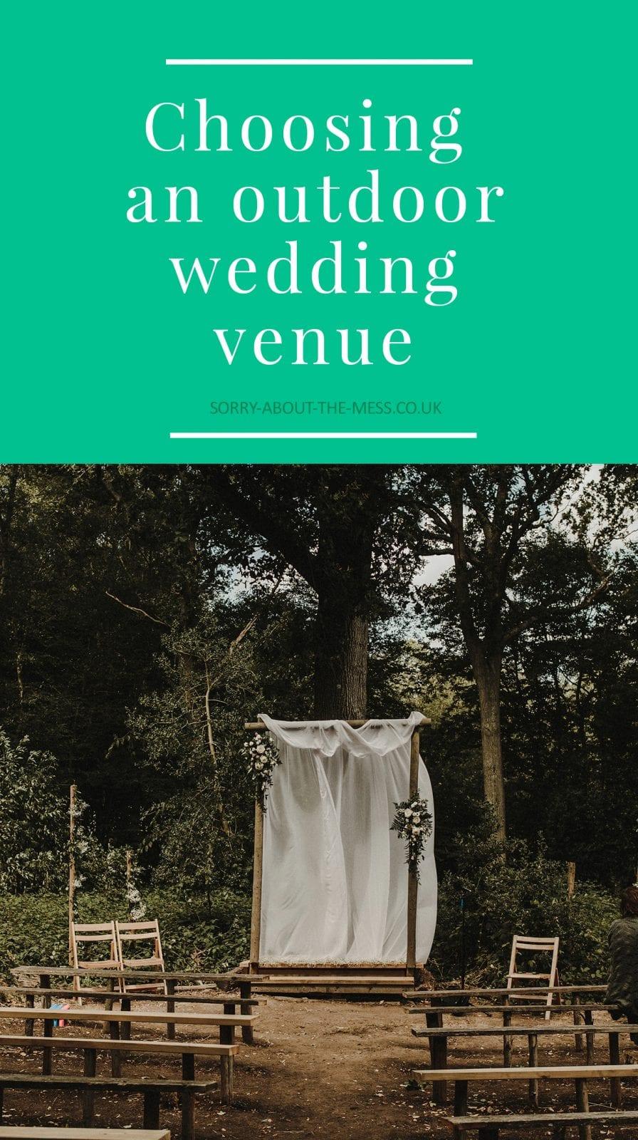 choosing an outdoor wedding venue