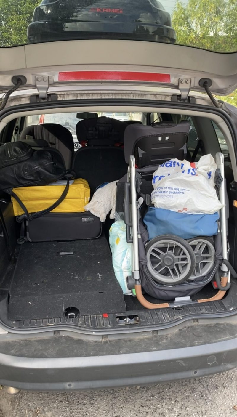 Uppababy Cruz V2 in a Ford S Max