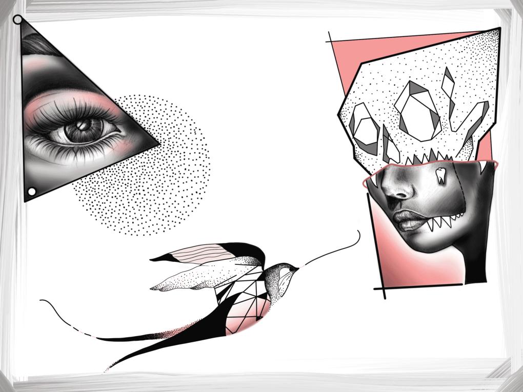 Planche de tatouages flash
