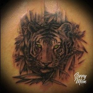 tigre tatouage réaliste