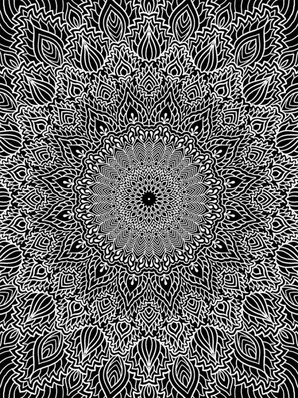 Impression Luna dotwork par Romain Blvck