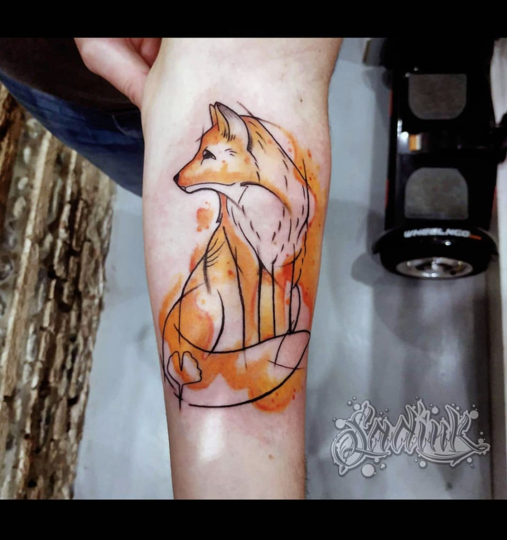 Tattoo Aquarelle Renard