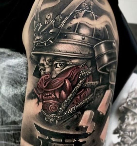 Tatouage samourai epaule