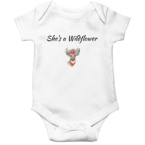 Wildflower deer onesie or tee