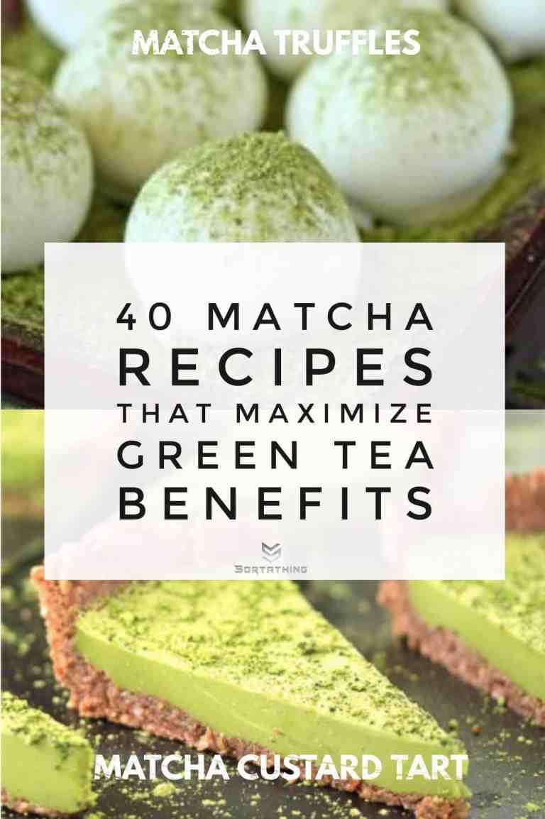 Matcha Green Tea Truffles & Matcha Custard Tart