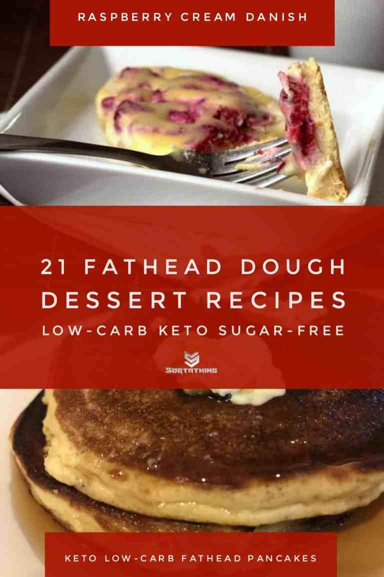 Raspberry Cream Cheese Danish & Keto Low-Carb Pancakes