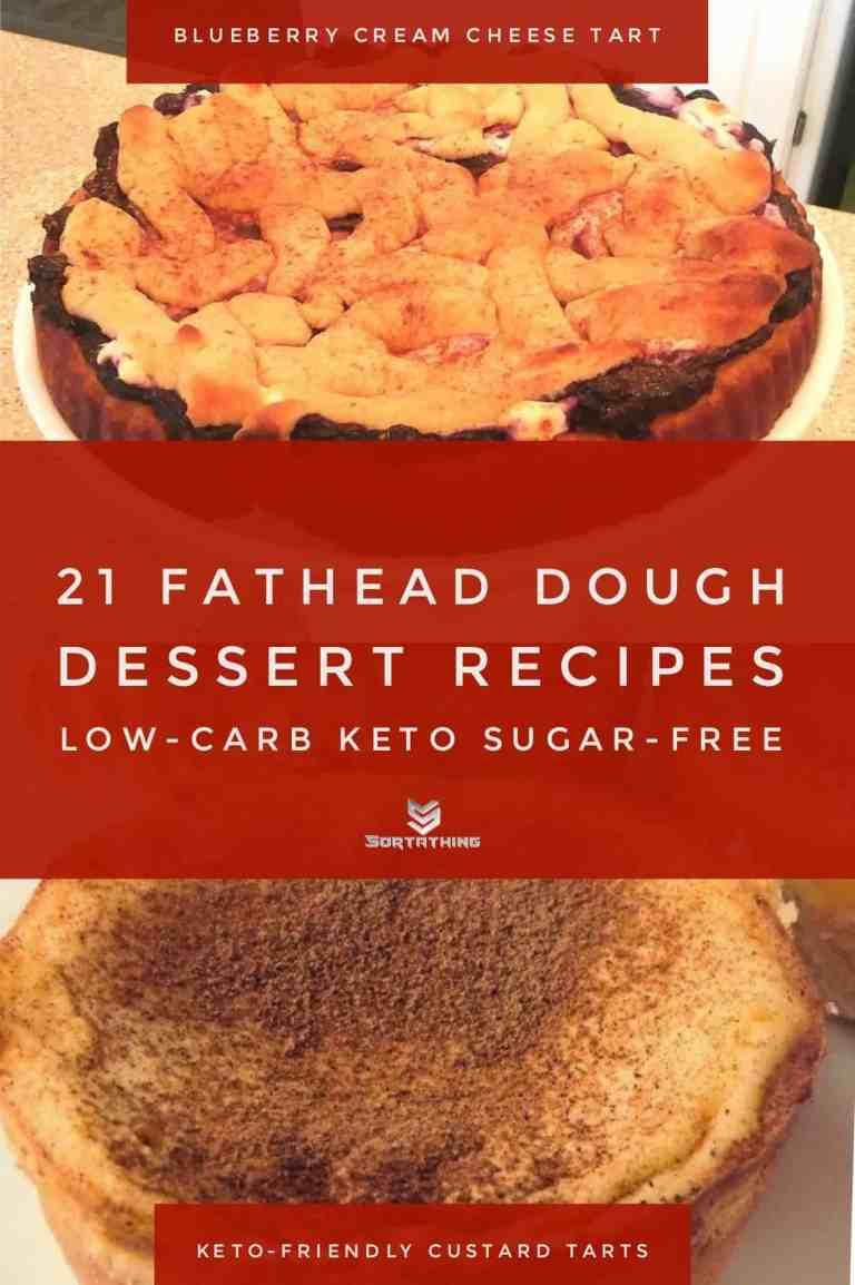 Fathead Blueberry Cream Cheese Tart & Keto Custard Tarts