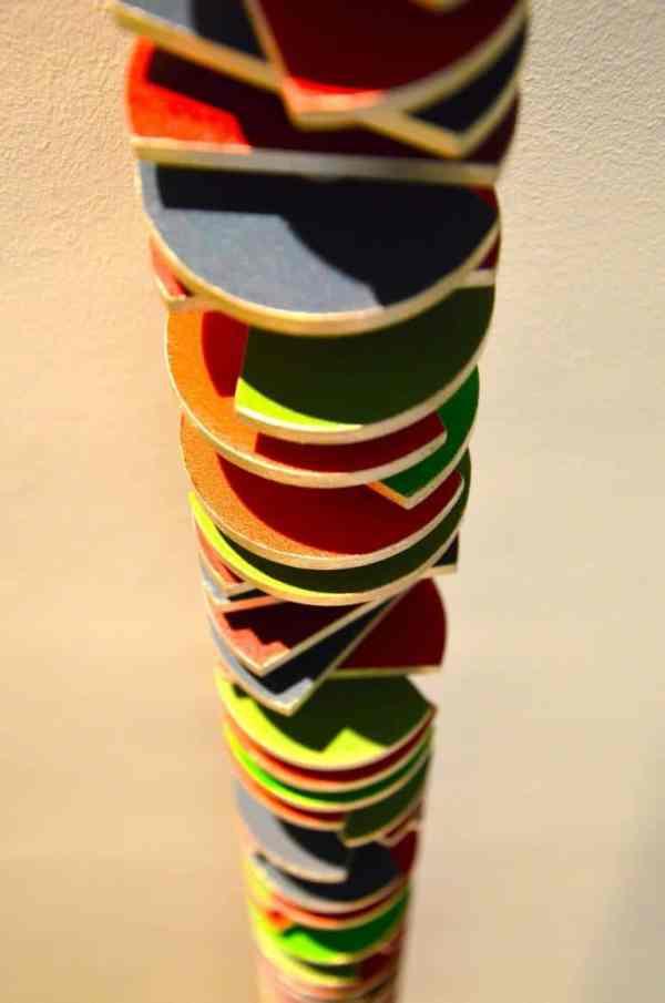 """81 Green-Red Truncated Discs"" - Original Artwork by Philippe Leblanc"