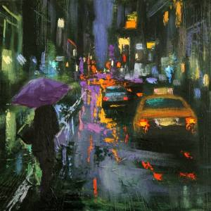 """A Rainy Evening"" - Open Edition Print by Chin h Shin"