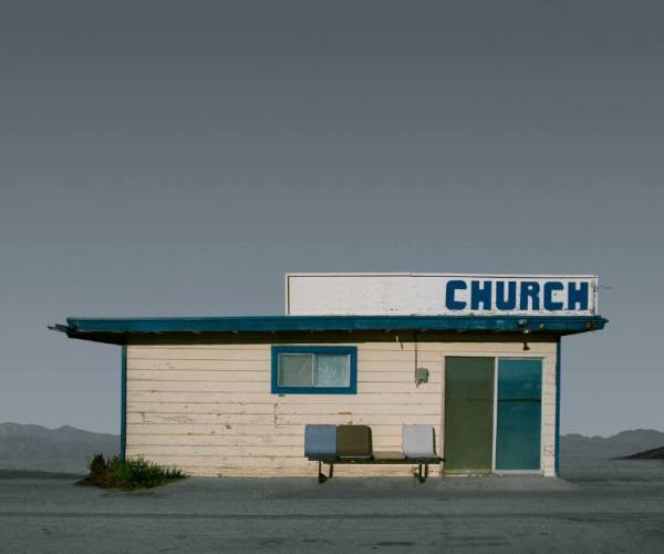 """Church, Mojave CA - Edition 4 of 9"" - Original Artwork by Ed Freeman"