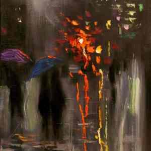 """December Rain"" - Open Edition Print by Chin h Shin"