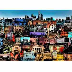 """""""Formations (Brixton Sampled History)"""" - Open Edition Print by Jaykoe Artist"""